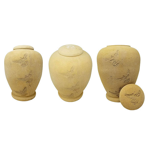Flying Dove Biodegradable Urn in Sand, Biodegradable Urn - Divinity Urns