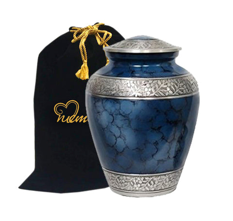 Elite Cloud Blue Alloy Cremation Urn, Alloy Urns - Divinity Urns