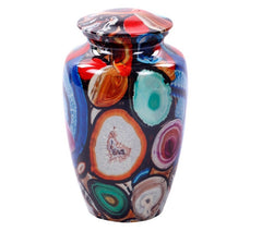 Exclusive Brazilian Multi Color Agate Finish Cremation Urn, Adult Urn - Divinity Urns