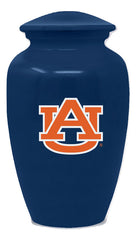 Auburn Tigers Football Cremation Urn - Blue, Sports Urn - Divinity Urns.