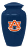 Image of Auburn Tigers Football Cremation Urn - Blue, Sports Urn - Divinity Urns.