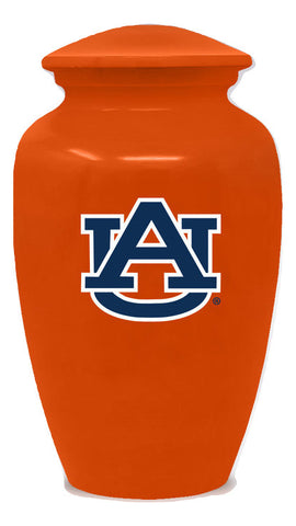 Auburn Tigers Football Cremation Urn - Orange, Sports Urn - Divinity Urns.
