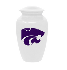 Kansas State Wildcats Football Cremation Urn - White, Sports Urn - Divinity Urns.