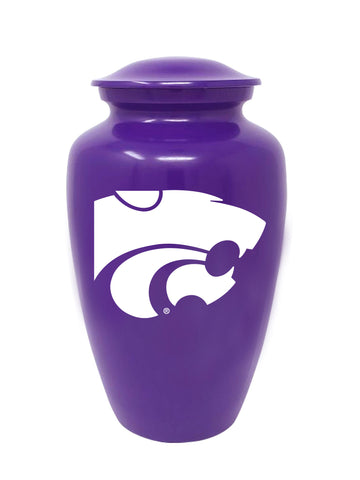 Kansas State Wildcats Football Cremation Urn - Purple, Sports Urn - Divinity Urns.