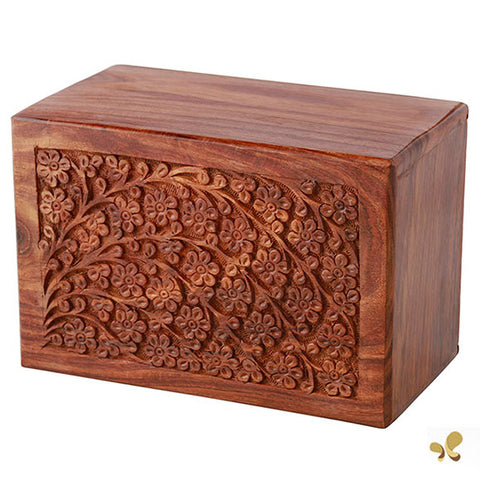Solid Rosewood Cremation Urn - Tree of Life Design, Adult Urn - Divinity Urns