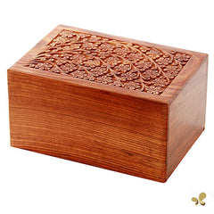 Solid Rosewood Cremation Urn - Tree of Life Design, Adult Urn - Divinity Urns.