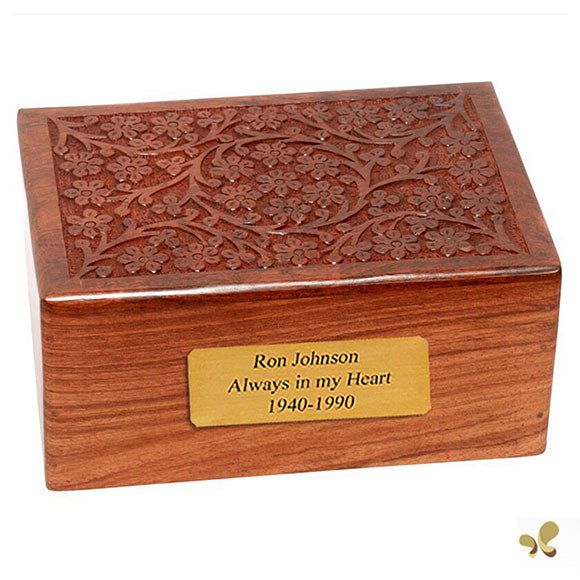 Solid Rosewood Cremation Urn - Soulful Tree Design