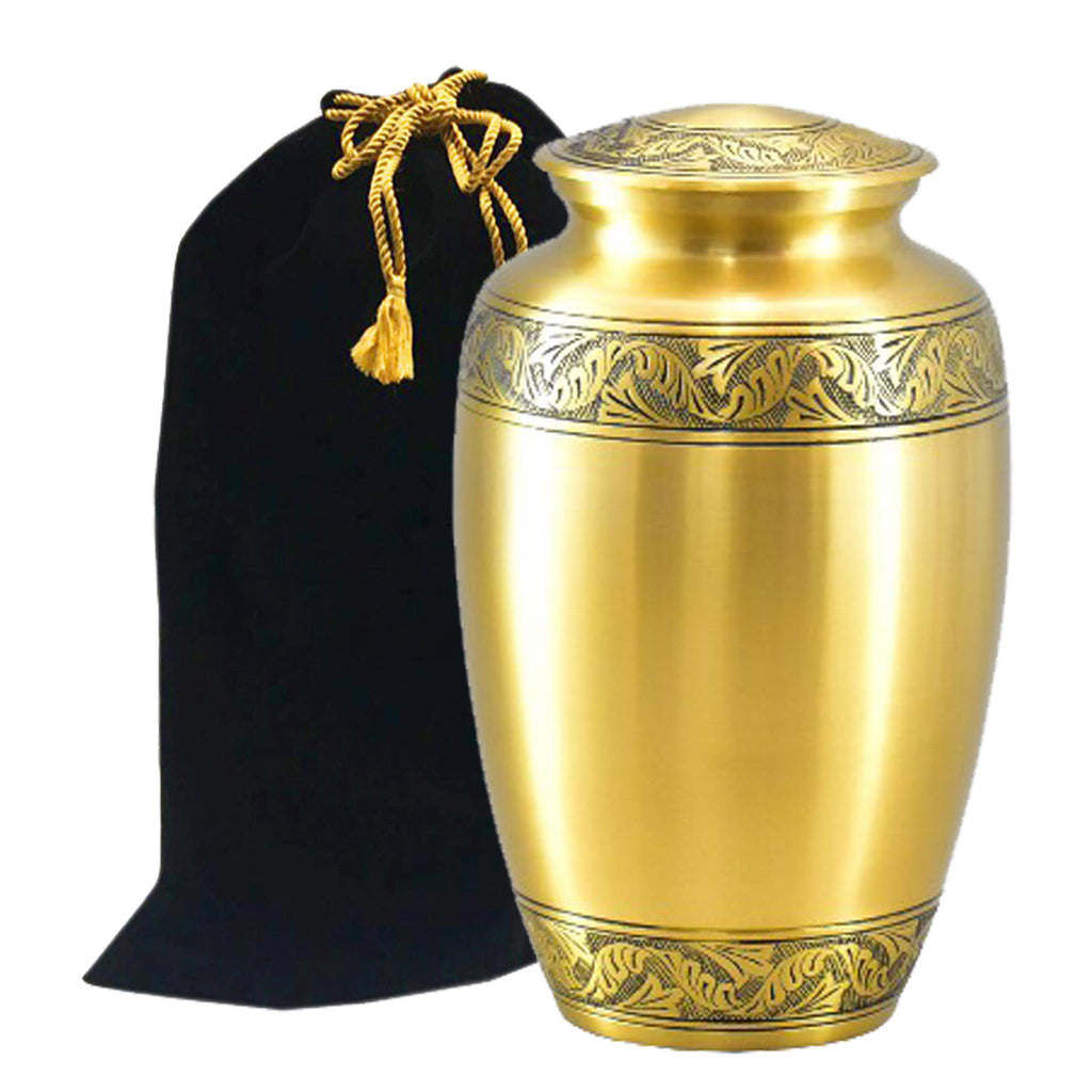 Classic Pewter Brass Cremation Urn,  - Divinity Urns.