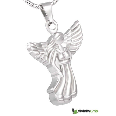 Angel Keepsake Cremation Pendant Jewelry, [product_type] - Divinity Urns