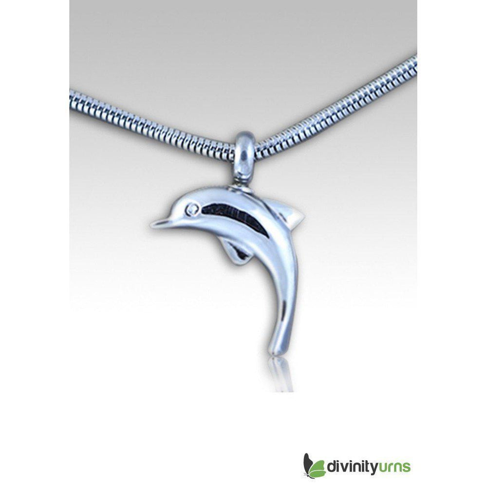 Baby Dolphin Cremation Pendant Jewelry