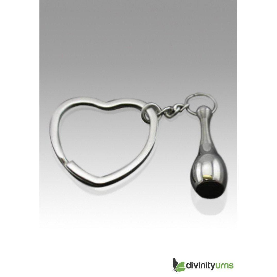 Baseball Bat Premium Stainless Cremation Key Chain, [product_type] - Divinity Urns