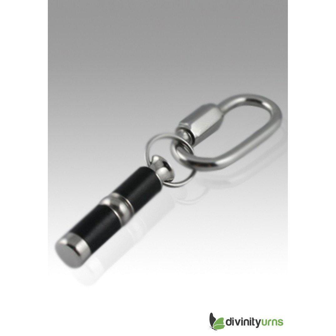 Black Beauty Stainless Steel Keepsake Cremation Key Chain, [product_type] - Divinity Urns