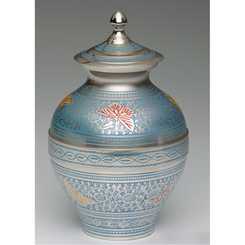 Blue Butterfly Infant Cremation Urn,  - Divinity Urns