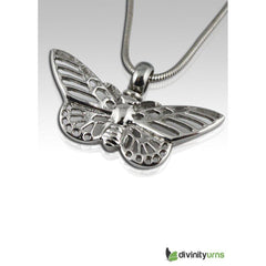 Butterfly Stainless Steel Cremation Keepsake Pendant,  - Divinity Urns.