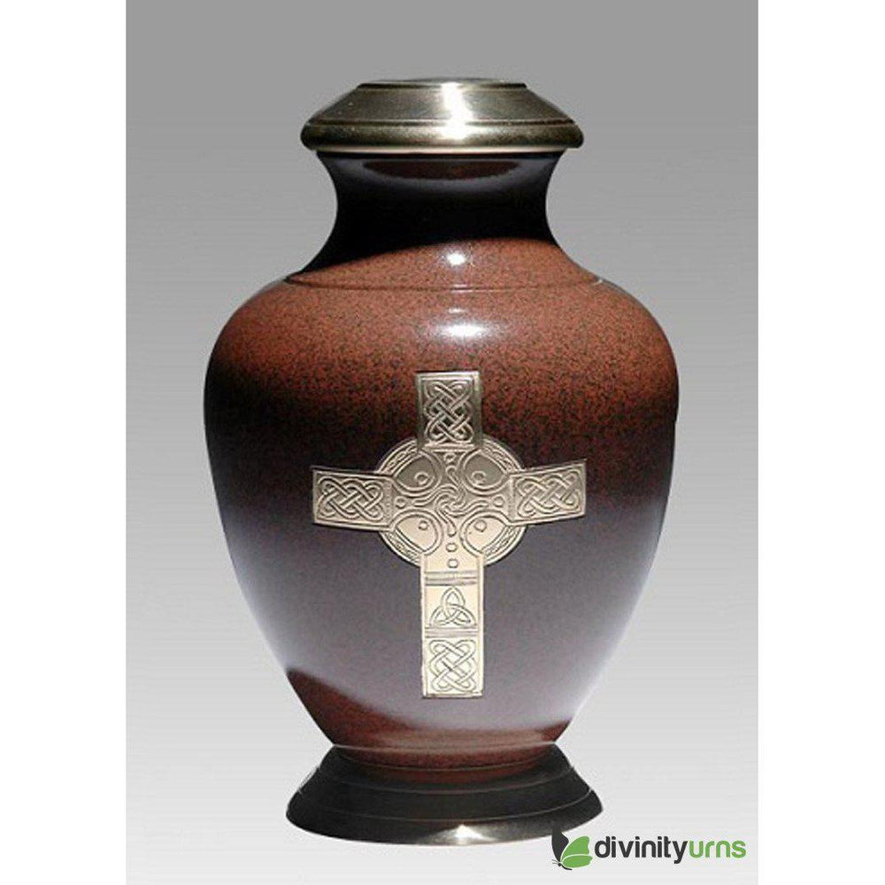 Celtic Brown Religious Cremation Urn