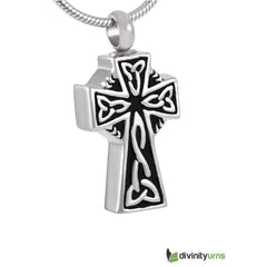 Celtic Cross Cremation Jewelry Keepsake Pendant, [product_type] - Divinity Urns