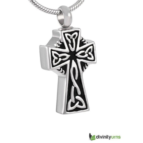Celtic Cross Cremation Jewelry Keepsake Pendant,  - Divinity Urns.
