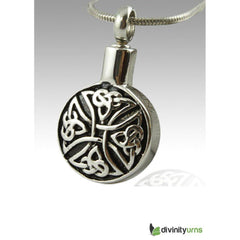 Circular Art Stainless Steel Cremation Keepsake Pendant, Jewelry - Divinity Urns.