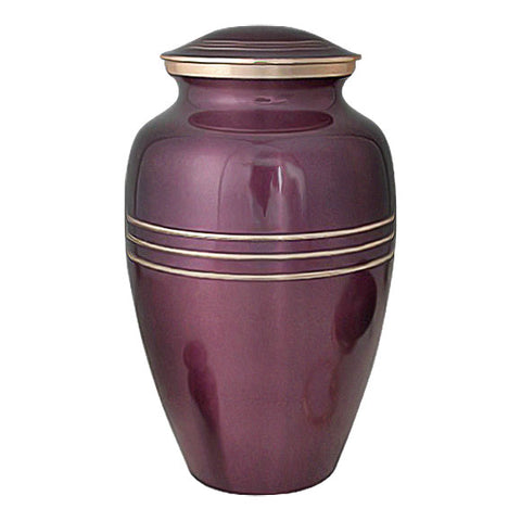 Classic Cremation Urn in Gold