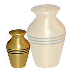 Classic Three-band Cremation Urn