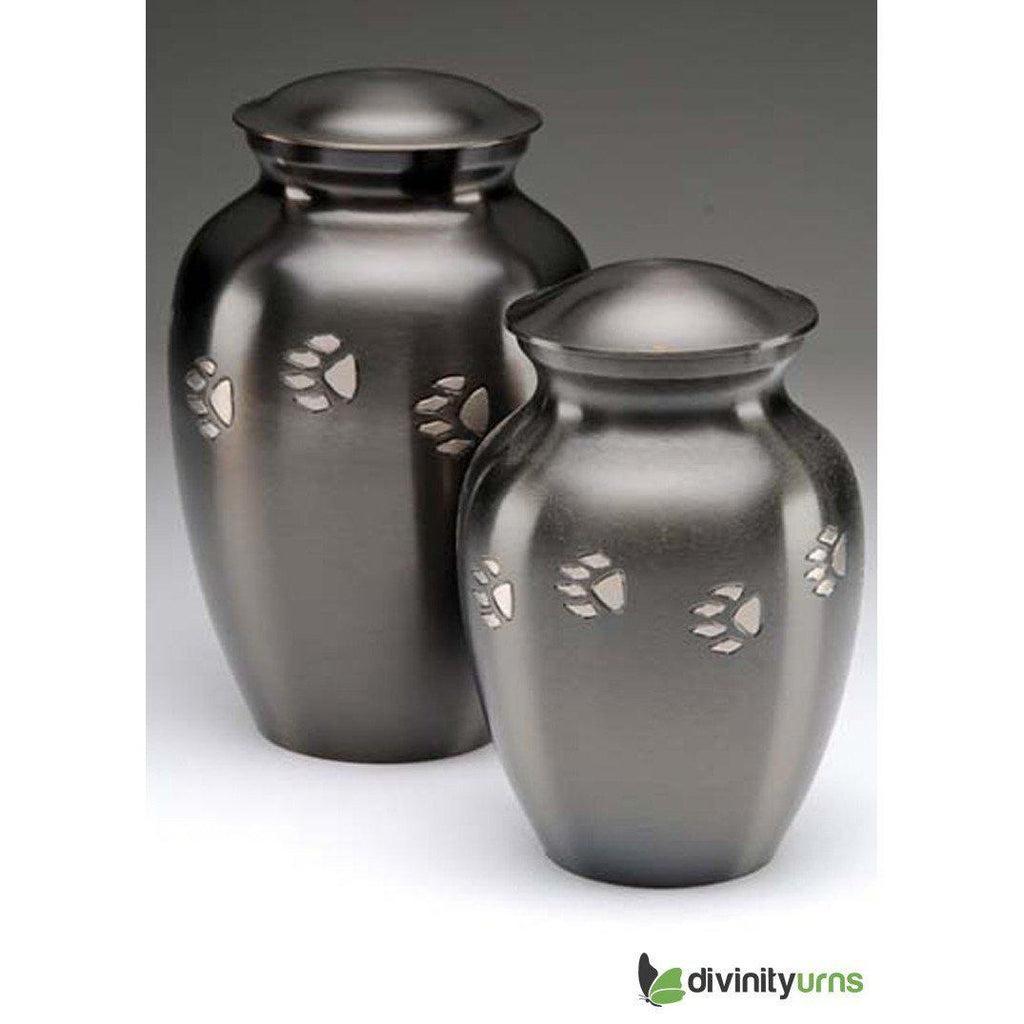 Classic Paw Print Pet Crimation Urn, Dog Urn - Divinity Urns