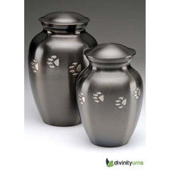 Image of Classic Paw Print Pet Crimation Urn