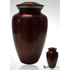 Copper Accent Alloy Cremation Urn, Alloy Urns - Divinity Urns