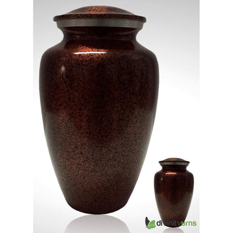 Copper Accent Alloy Cremation Urn, Alloy Urns - Divinity Urns.