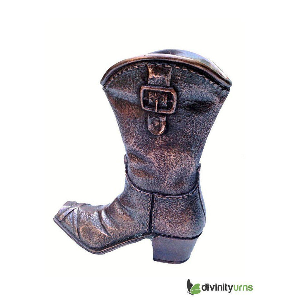 Cowboy Boot Sculpture Cremation Urn, Urn For Human Ashes - Divinity Urns.