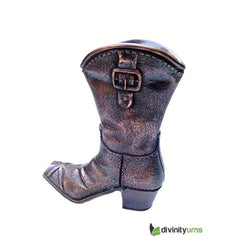 Cowboy Boot Sculpture Cremation Urn, Urn For Human Ashes - Divinity Urns