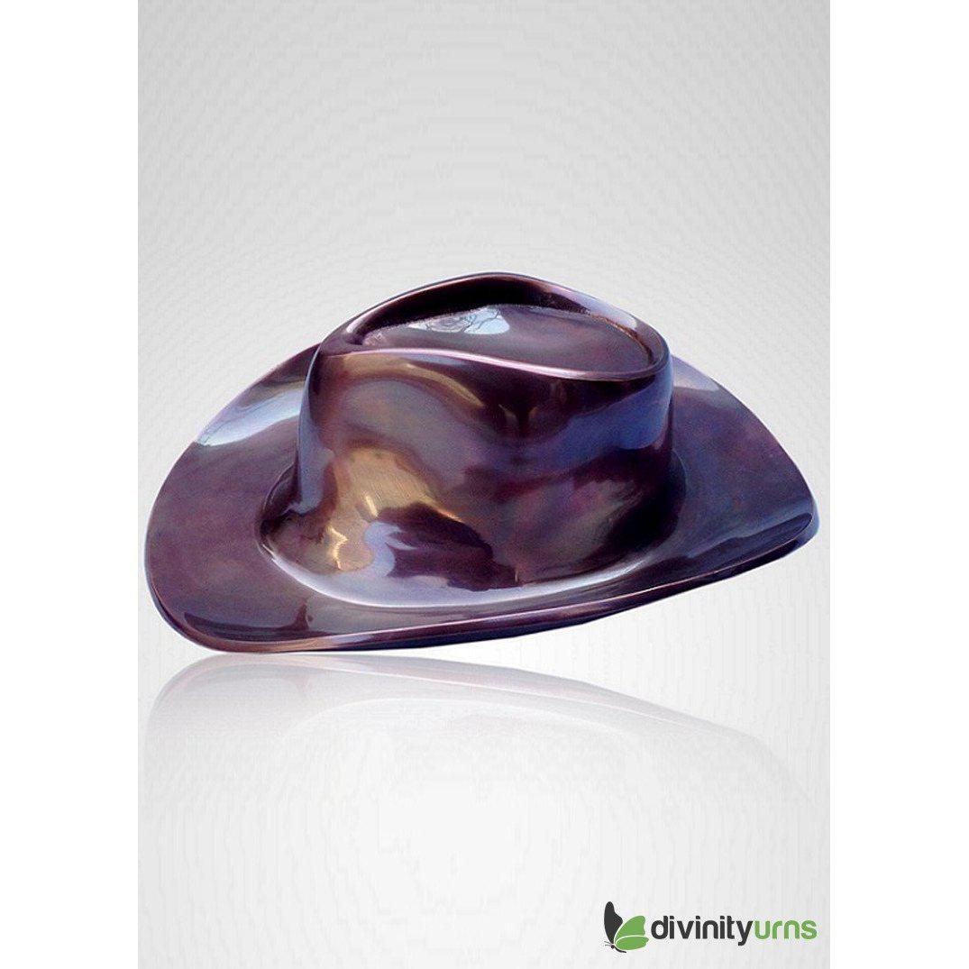 Cowboy Hat Sculpture Cremation Urn, Urns For Human Ashes - Divinity Urns