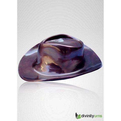 Cowboy Hat Sculpture Cremation Urn, Urn For Human Ashes - Divinity Urns