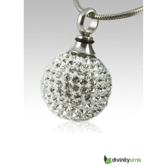 Crystal Ball Stainless Steel Keepsake Pendant, Jewelry - Divinity Urns.