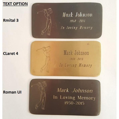 Customized Brass Engraved Name Plates, Accessories - Divinity Urns.