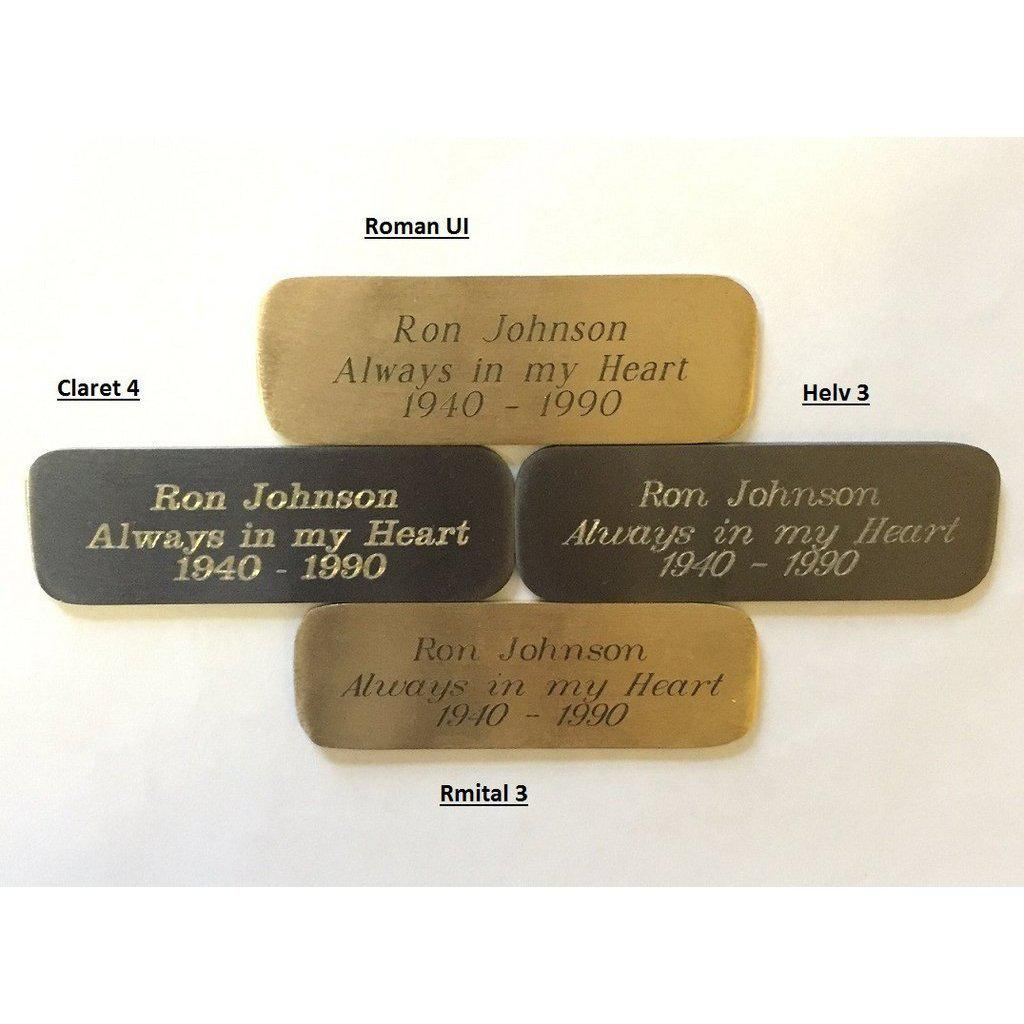 Customized Brass Urns Engraving for Name Plates - add on, Accessories - Divinity Urns