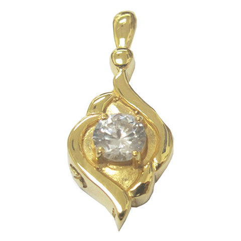 Diamond Ornament Cremation Jewelry - Gold Plated, Cremation Pendants - Divinity Urns.