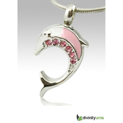 Dolphin Premium Stainless Steel Cremation Keepsake Pendant, [product_type] - Divinity Urns