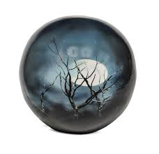 Midnight Moon Sphere of Life Adult Cremation Urn, Urn For Human Ashes - Divinity Urns.