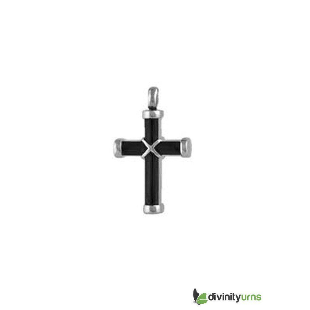 Elegant Black Cross Pendant, [product_type] - Divinity Urns