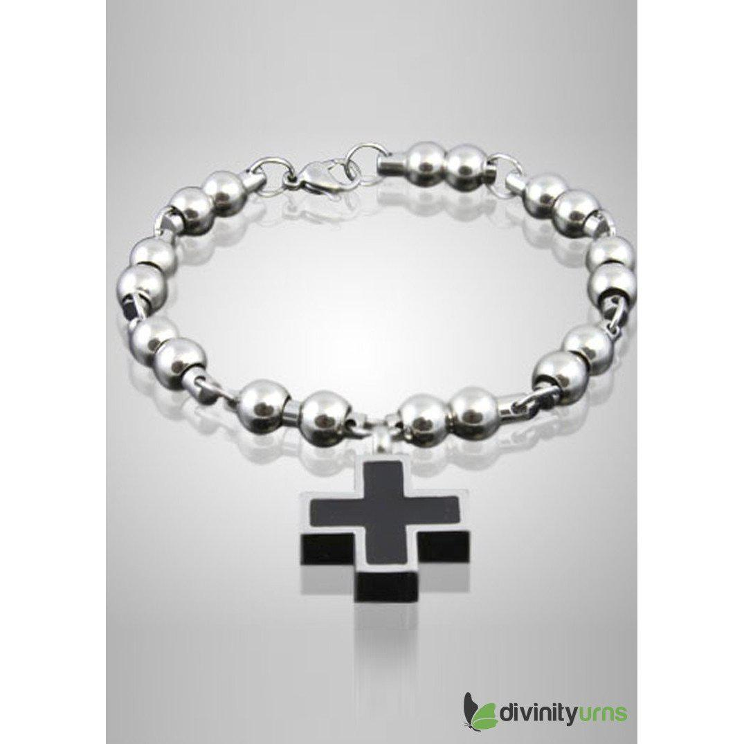 Elegant Cross Bracelet Cremation Jewelry, [product_type] - Divinity Urns