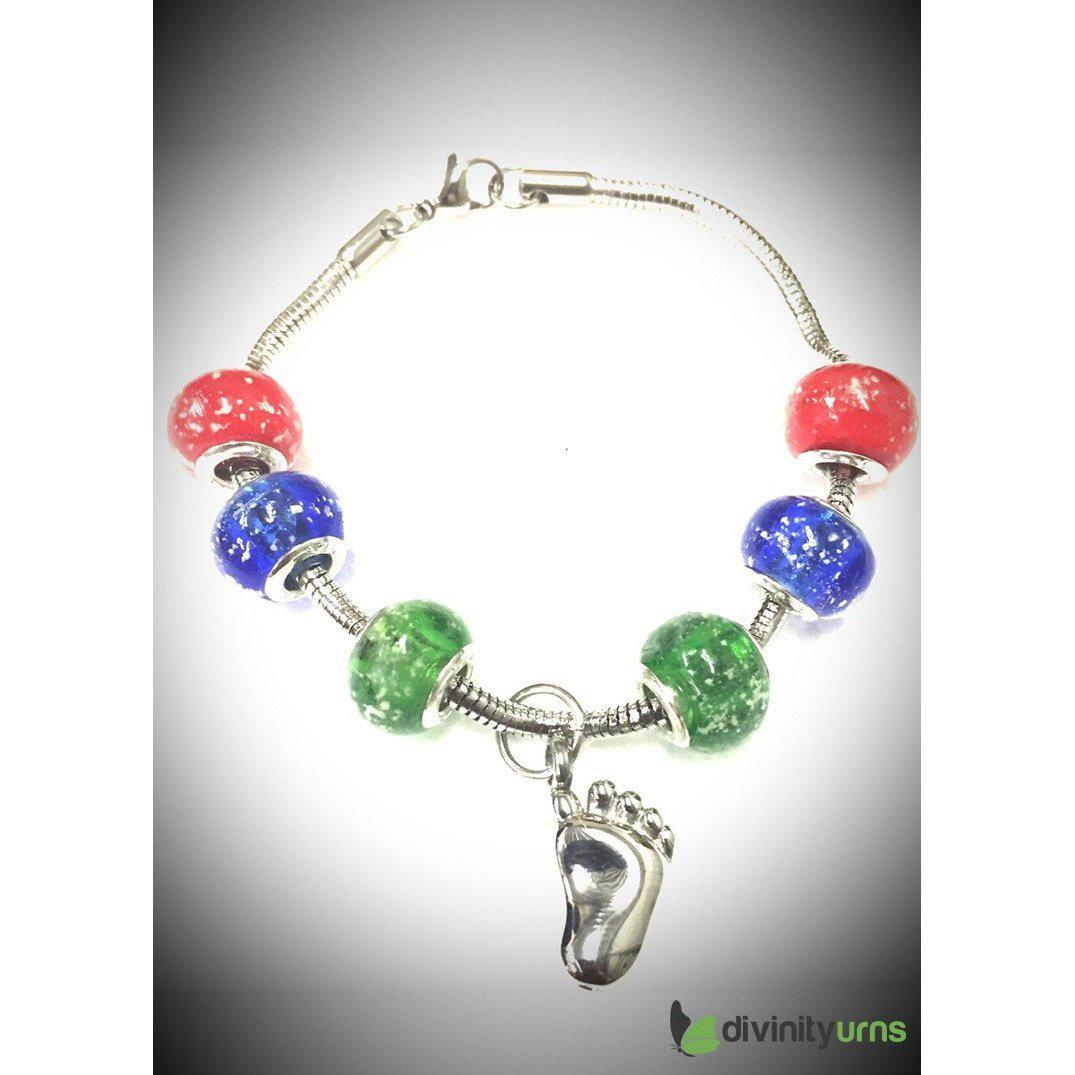 """Fantastic Fall"" murano bead cremation Bracelet, [product_type] - Divinity Urns"