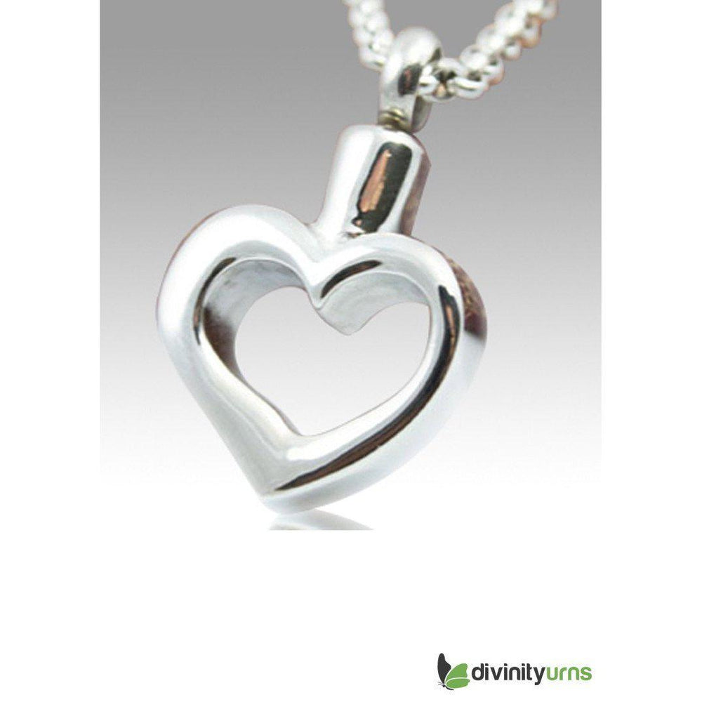 Forever Yours Stainless Steel Cremation Keepsake Pendant