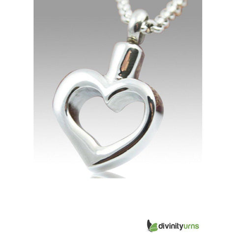 Forever Yours Stainless Steel Cremation Keepsake Pendant,  - Divinity Urns.