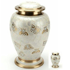 Golden Butterfly Cremation Urn, Urn For Human Ashes - Divinity Urns