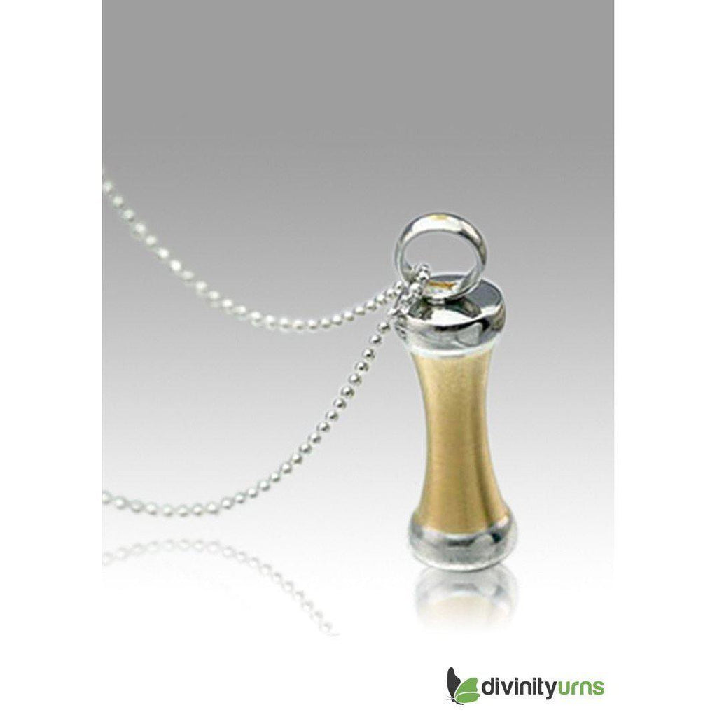 Golden Safe Stainless Steel Cremation Keepsake Pendant,  - Divinity Urns.