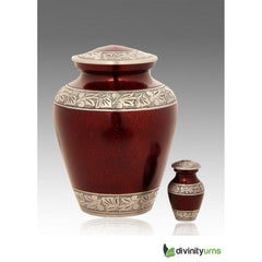 Elite Cloud Red Alloy Cremation Urn, Alloy Urns - Divinity Urns.