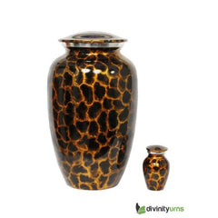 Large Golden Aura Alloy Cremation Urn, Alloy Urns - Divinity Urns.