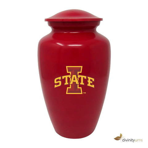 Iowa State Football Cremation Urn, Red Adult & Funeral Urn, Sports Urn - Divinity Urns