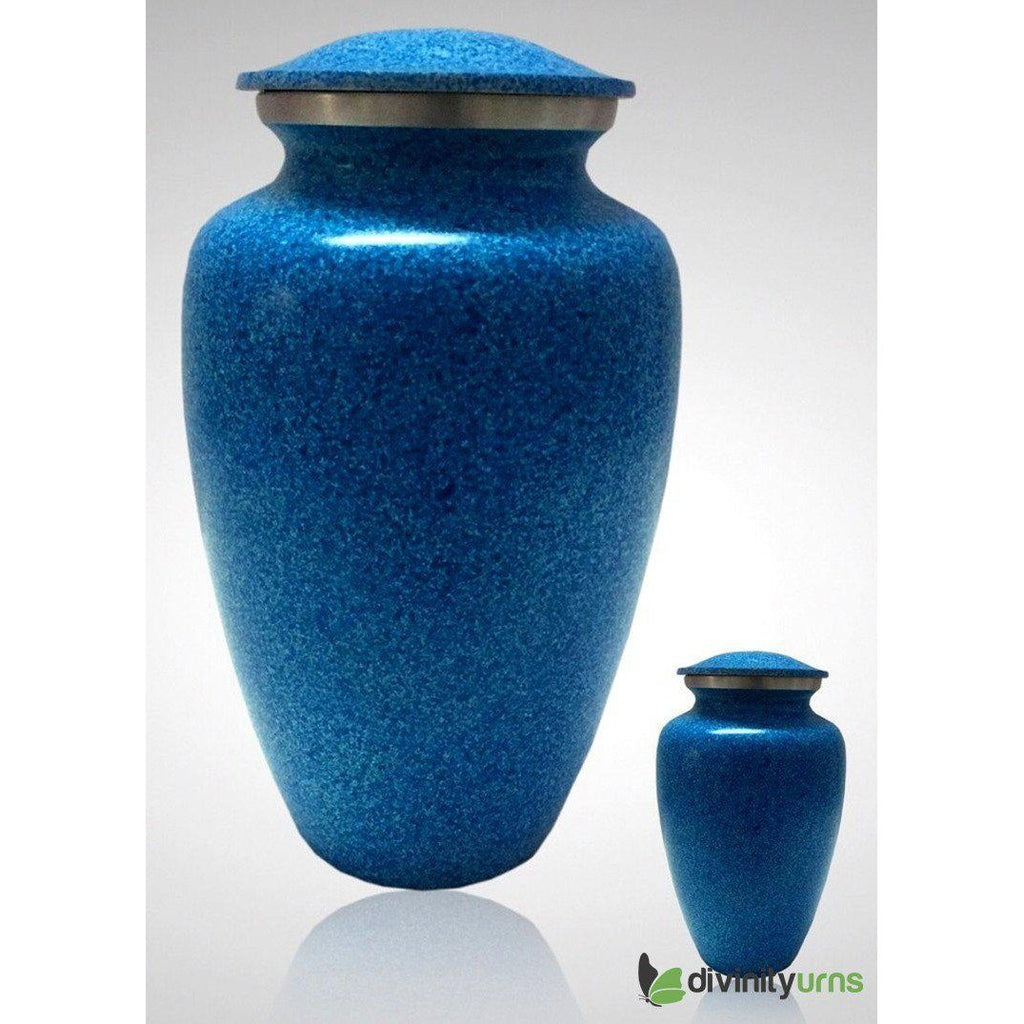 Majestic Blue Alloy Cremation Urn, Alloy Urns - Divinity Urns