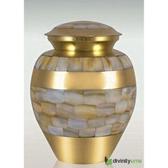 Mother of Pearl Infant Cremation Urn, mother of pearl urn - Divinity Urns.